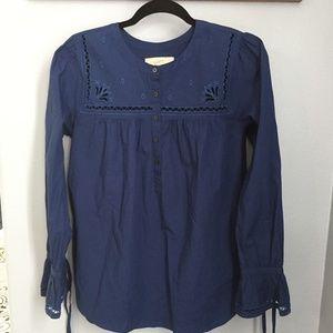 Modern blue M LOFT Cotton Tunic